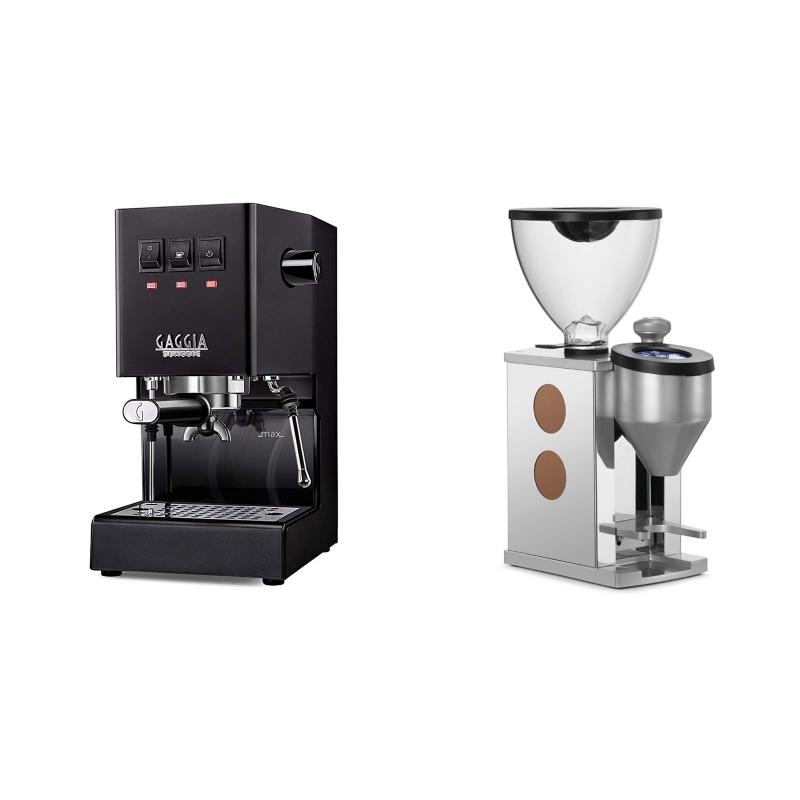 Gaggia New Classic BC, black + Rocket Espresso FAUSTINO, copper
