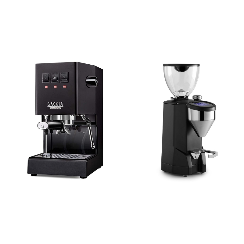 Gaggia New Classic BC, black + Rocket Espresso SUPER FAUSTO, black