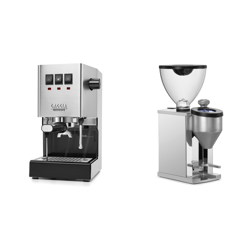 Gaggia New Classic BC + Rocket Espresso FAUSTINO, chrome