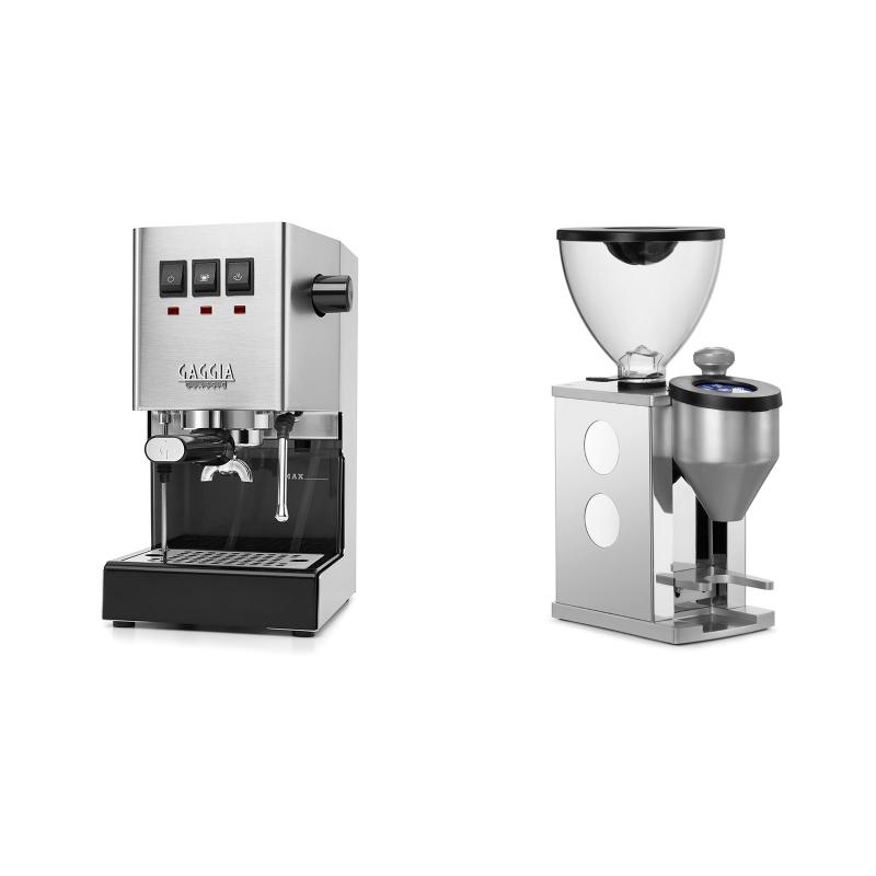 Gaggia New Classic BC + Rocket Espresso FAUSTINO, white