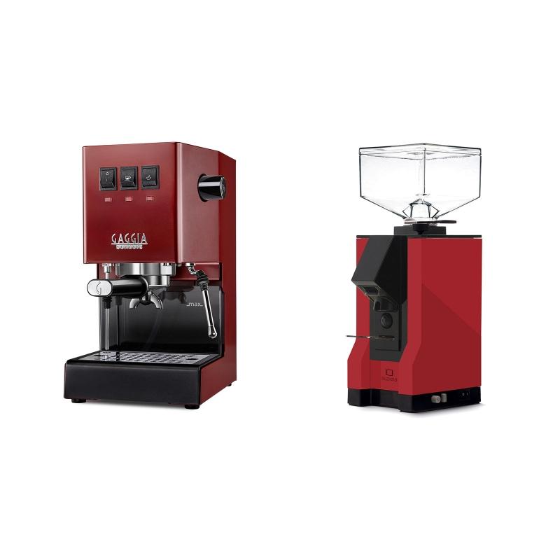 Gaggia New Classic BC, red + Eureka Mignon Silenzio, BL ferrari red