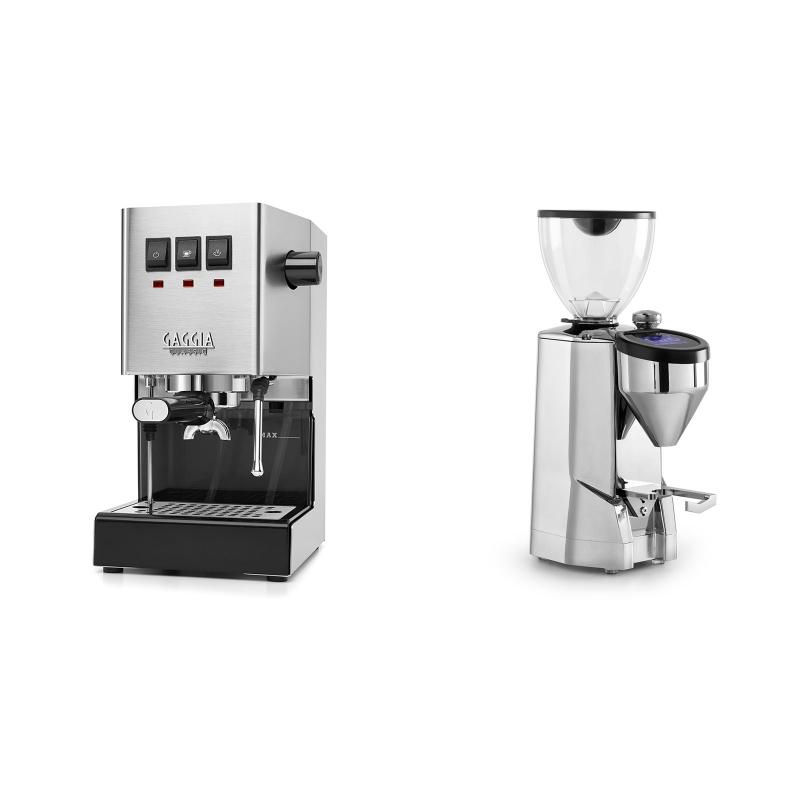 Gaggia New Classic BC + Rocket Espresso SUPER FAUSTO, chrome