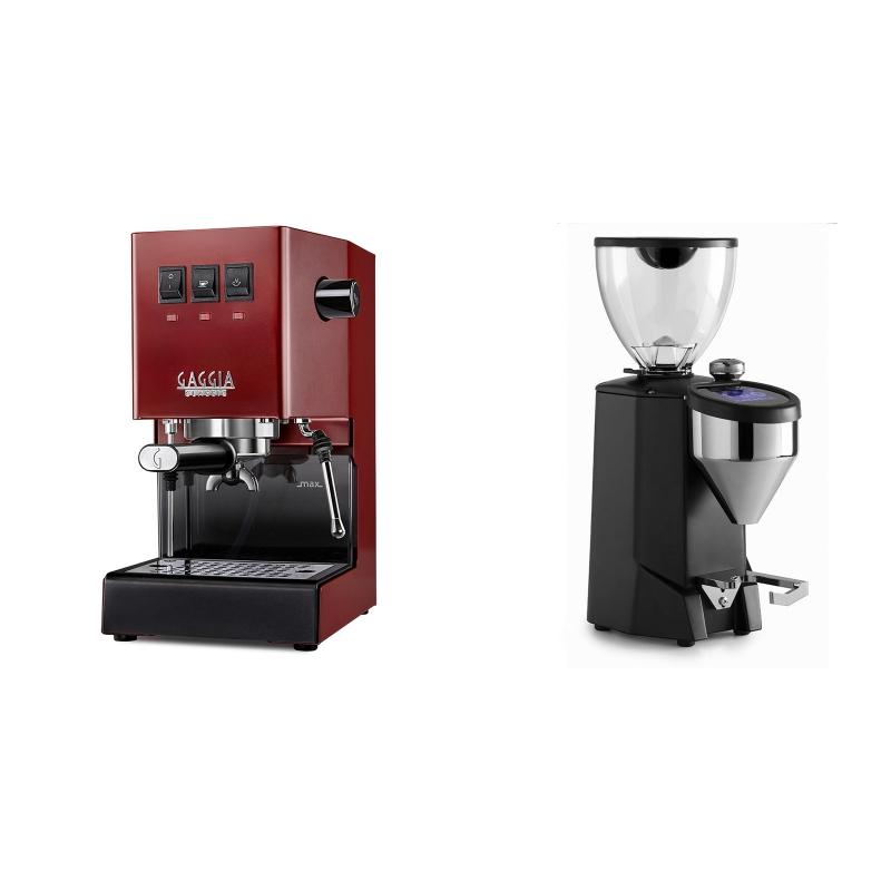 Gaggia New Classic BC, red + Rocket Espresso FAUSTO 2.1, black