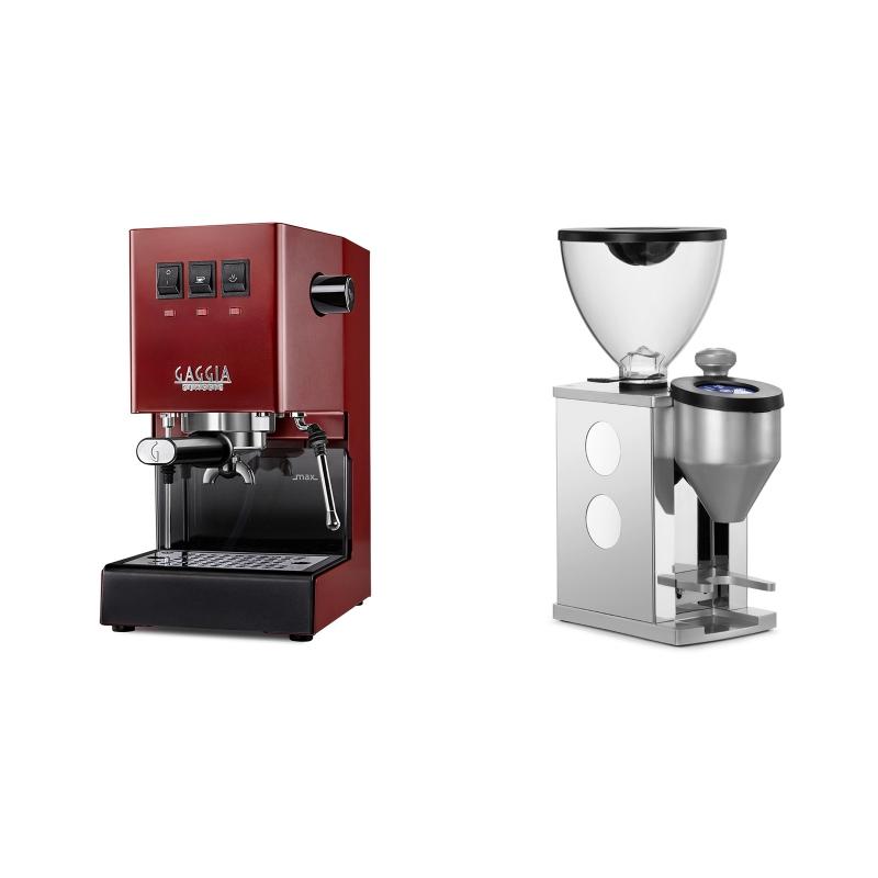 Gaggia New Classic BC, red + Rocket Espresso FAUSTINO, white