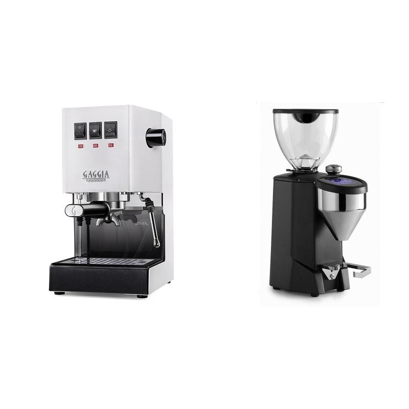 Gaggia New Classic BC, white + Rocket Espresso FAUSTO 2.1, black