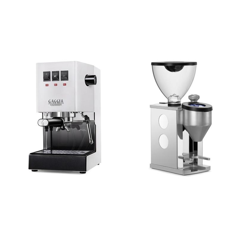 Gaggia New Classic BC, white + Rocket Espresso FAUSTINO, white
