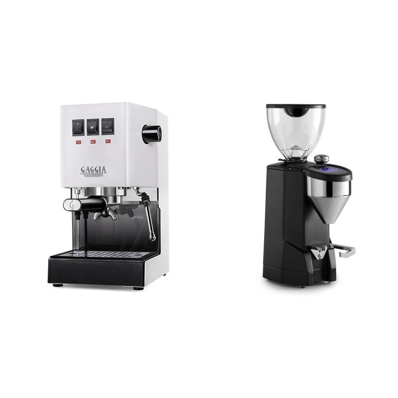 Gaggia New Classic BC, white + Rocket Espresso SUPER FAUSTO, black