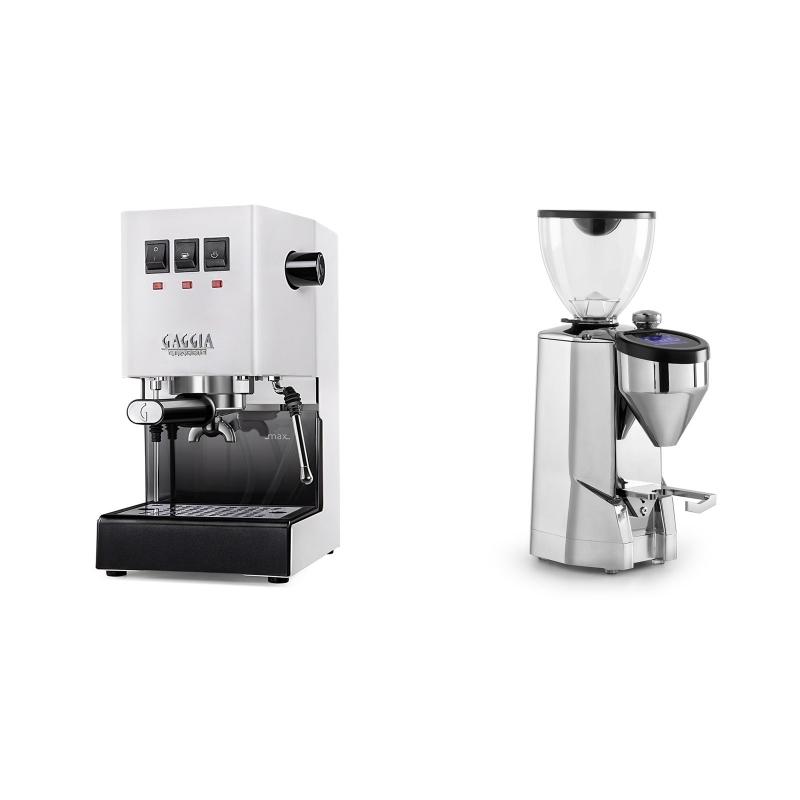 Gaggia New Classic BC, white + Rocket Espresso SUPER FAUSTO, chrome