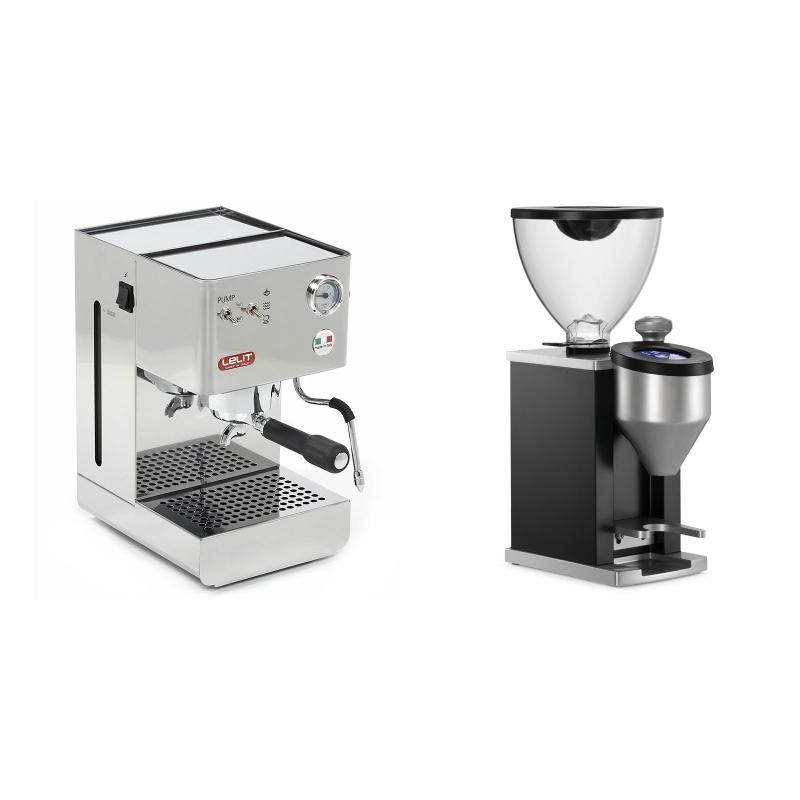 Lelit Glenda PL41PLUS + Rocket Espresso FAUSTINO, black