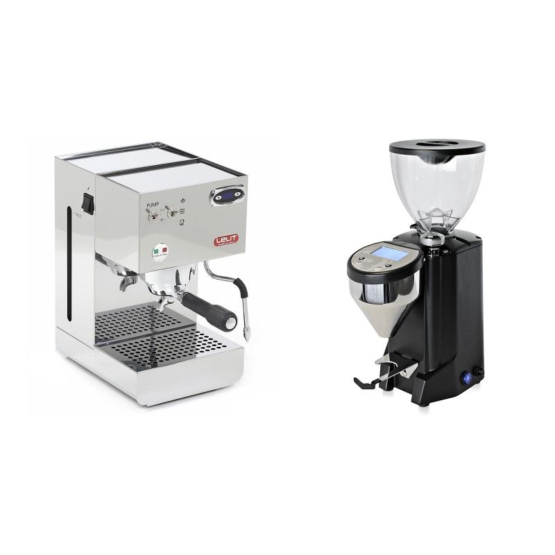 Lelit Glenda PL41PLUST + Rocket Espresso FAUSTO, black