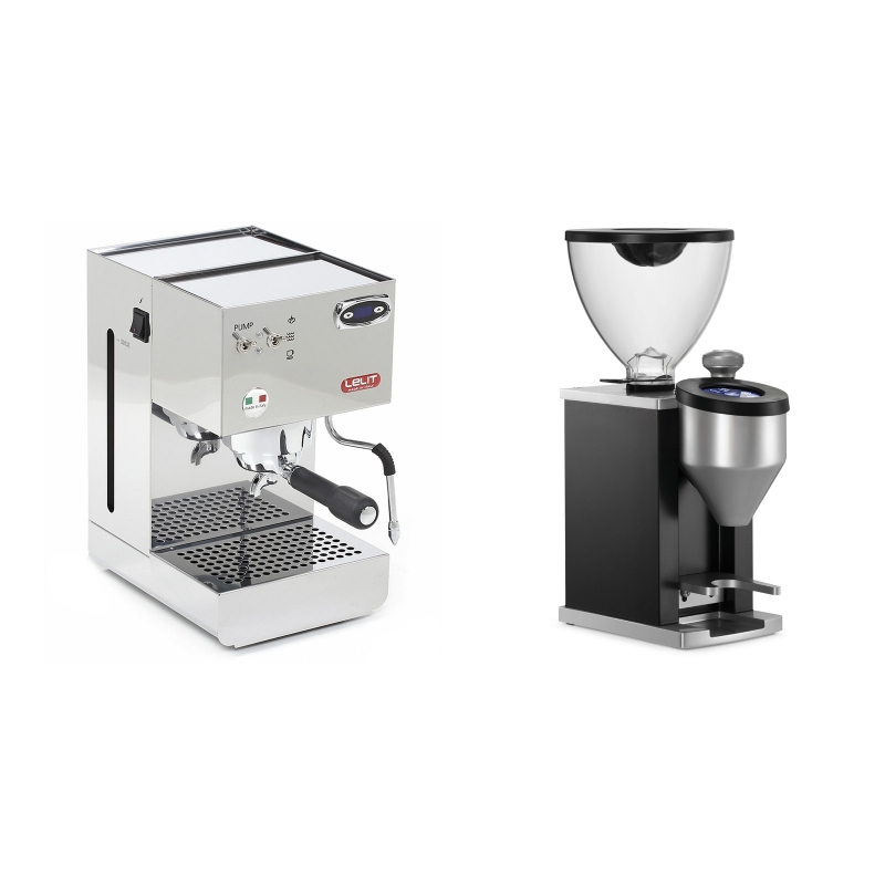 Lelit Glenda PL41PLUST + Rocket Espresso FAUSTINO, black