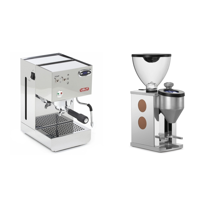 Lelit Glenda PL41PLUST + Rocket Espresso FAUSTINO, copper