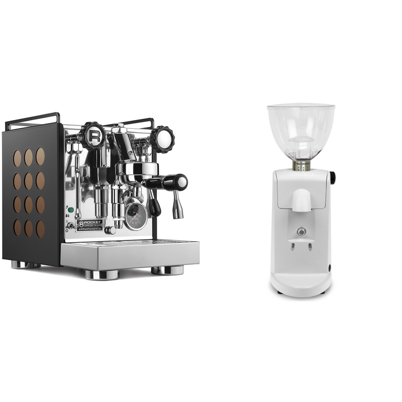 Rocket Espresso Appartamento, black/copper + Ascaso i-mini i1, bílá