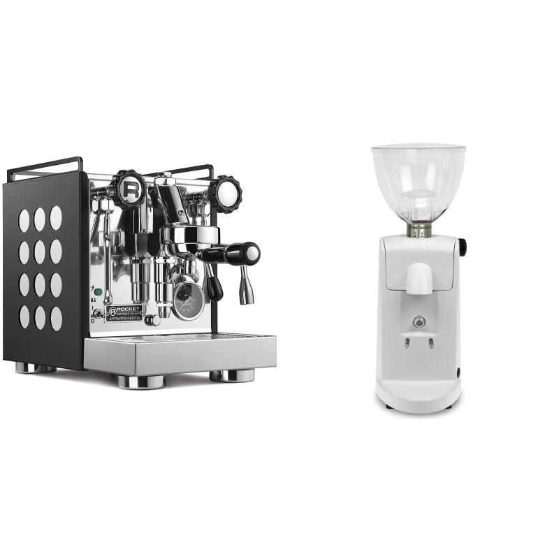 Rocket Espresso Appartamento, black/white + Ascaso i-mini i1, bílá