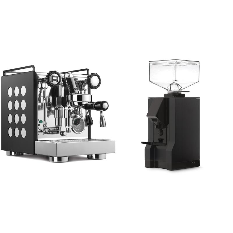 Rocket Espresso Appartamento, black/white + Eureka Mignon Manuale, BL black