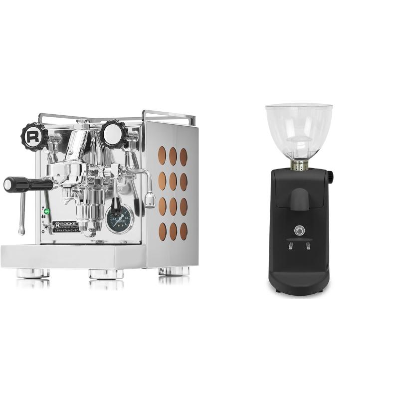 Rocket Espresso Appartamento, copper + Ascaso i-mini i1, černá