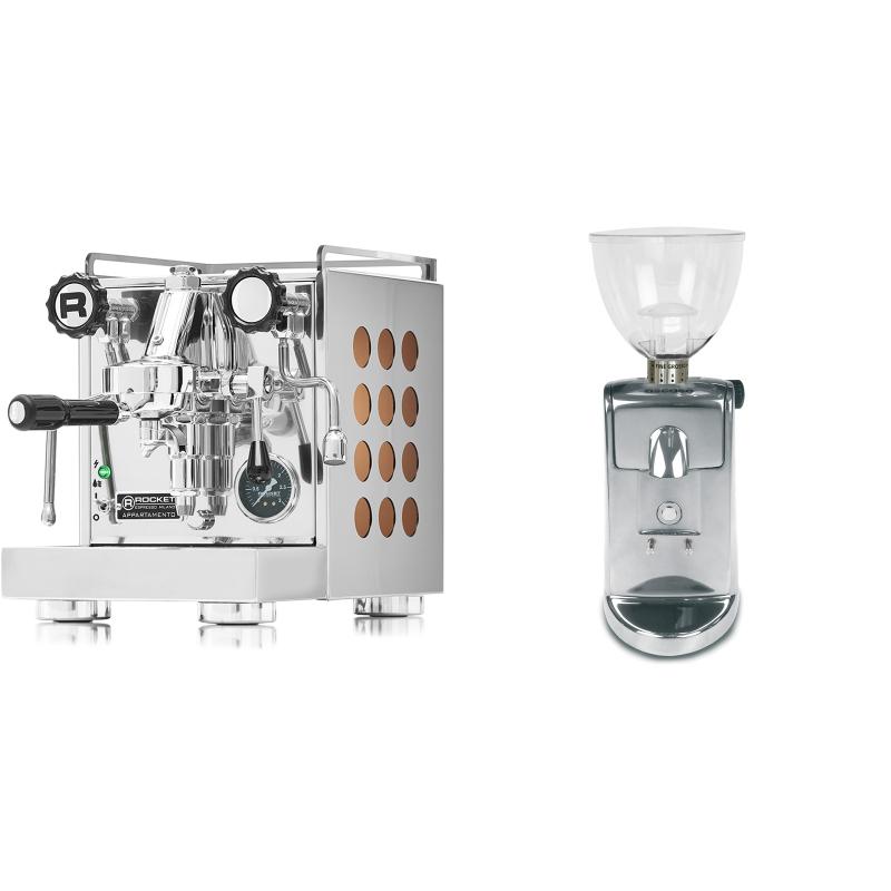 Rocket Espresso Appartamento, copper + Ascaso i-mini i1, leštěný hliník