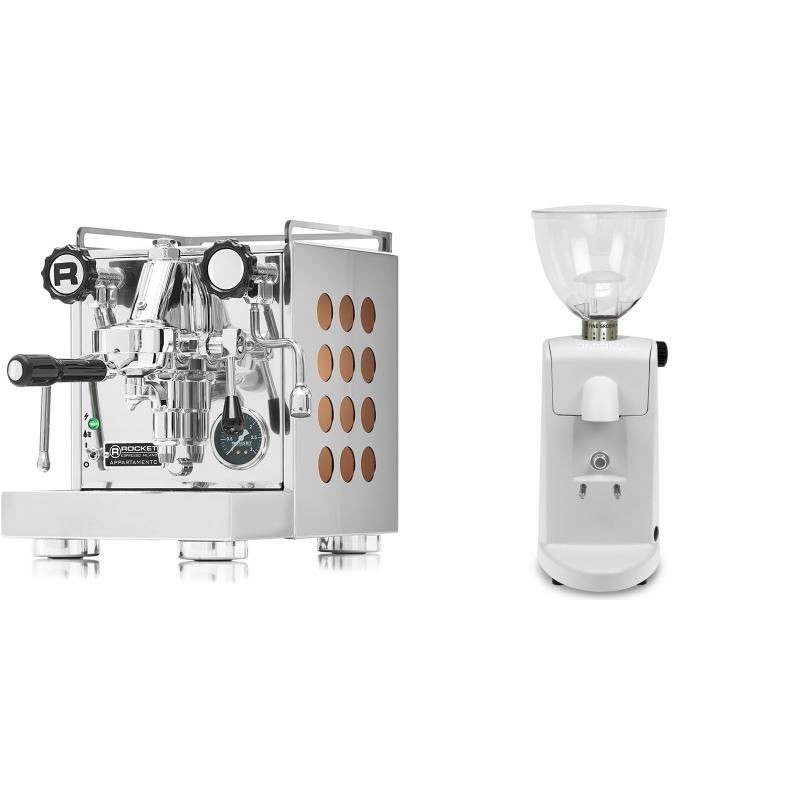 Rocket Espresso Appartamento, copper + Ascaso i-mini i1, bílá