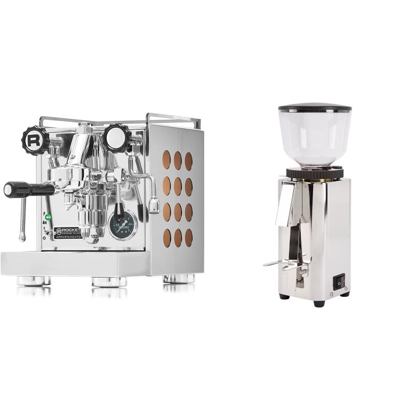 Rocket Espresso Appartamento, copper + ECM C-Manuale 54