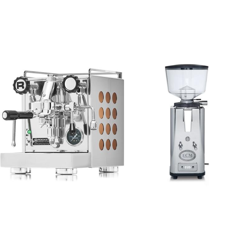 Rocket Espresso Appartamento, copper + ECM S-Automatik 64