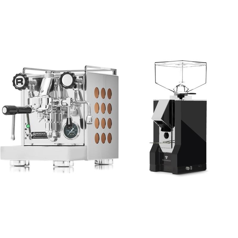 Rocket Espresso Appartamento, copper + Eureka Mignon Classico, CR black