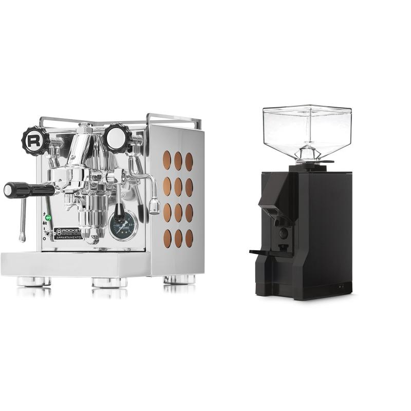 Rocket Espresso Appartamento, copper + Eureka Mignon Manuale, BL black