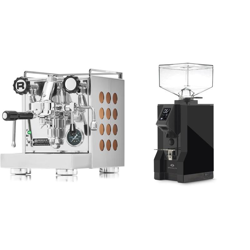 Rocket Espresso Appartamento, copper + Eureka Mignon Specialita, BL black