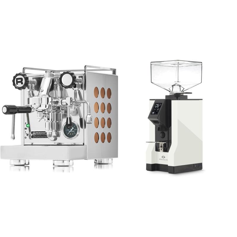 Rocket Espresso Appartamento, copper + Eureka Mignon Specialita, BL white