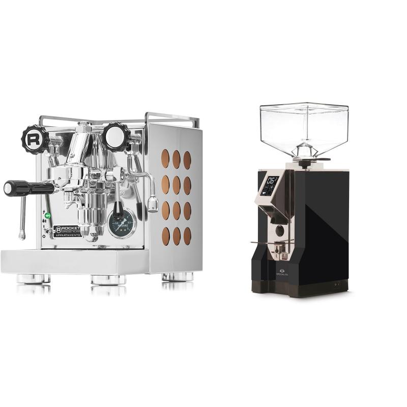 Rocket Espresso Appartamento, copper + Eureka Mignon Specialita, CR black