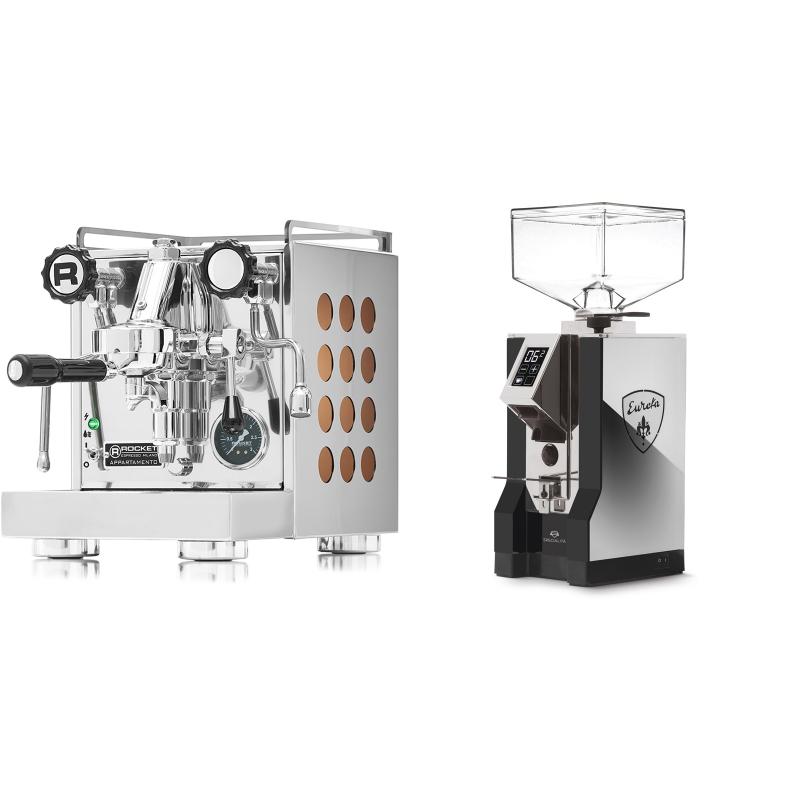Rocket Espresso Appartamento, copper + Eureka Mignon Specialita, NX black