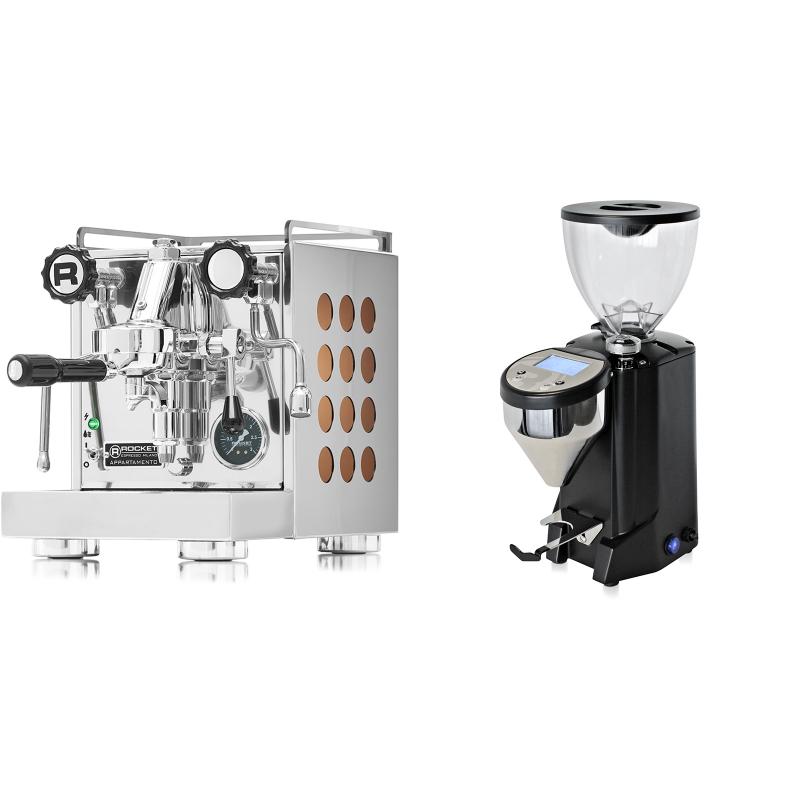 Rocket Espresso Appartamento, copper + Rocket Espresso FAUSTO, černý