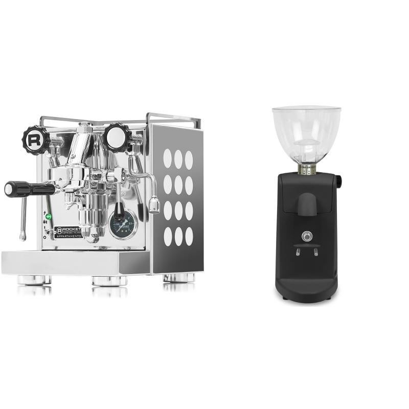 Rocket Espresso Appartamento, white + Ascaso i-mini i1, černá