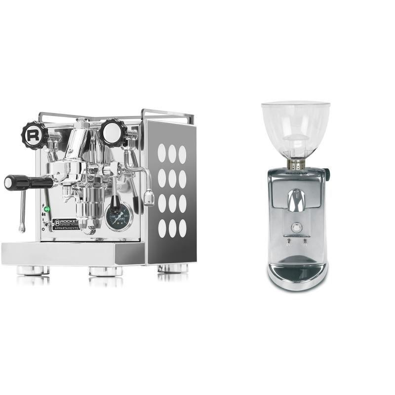 Rocket Espresso Appartamento, white + Ascaso i-mini i1, leštěný hliník