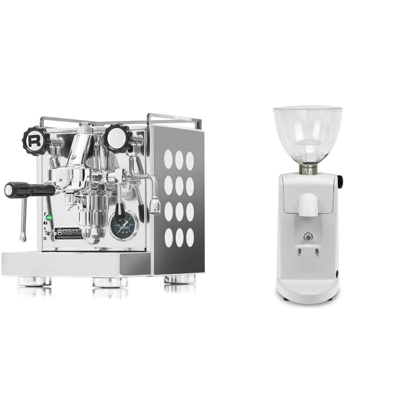 Rocket Espresso Appartamento, white + Ascaso i-mini i1, bílá