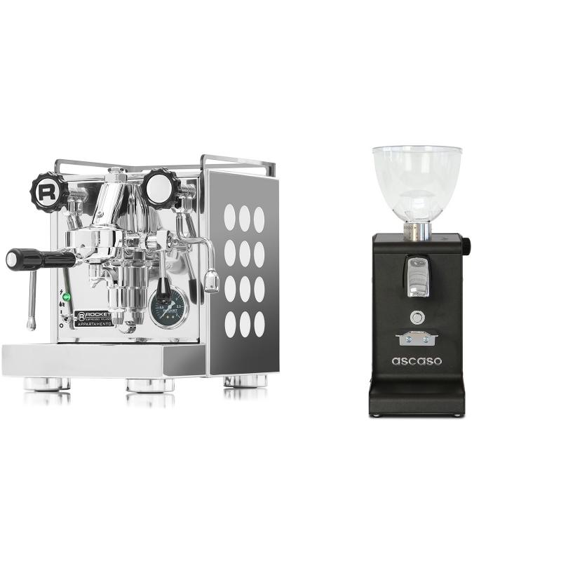 Rocket Espresso Appartamento, white + Ascaso i-steel, černá