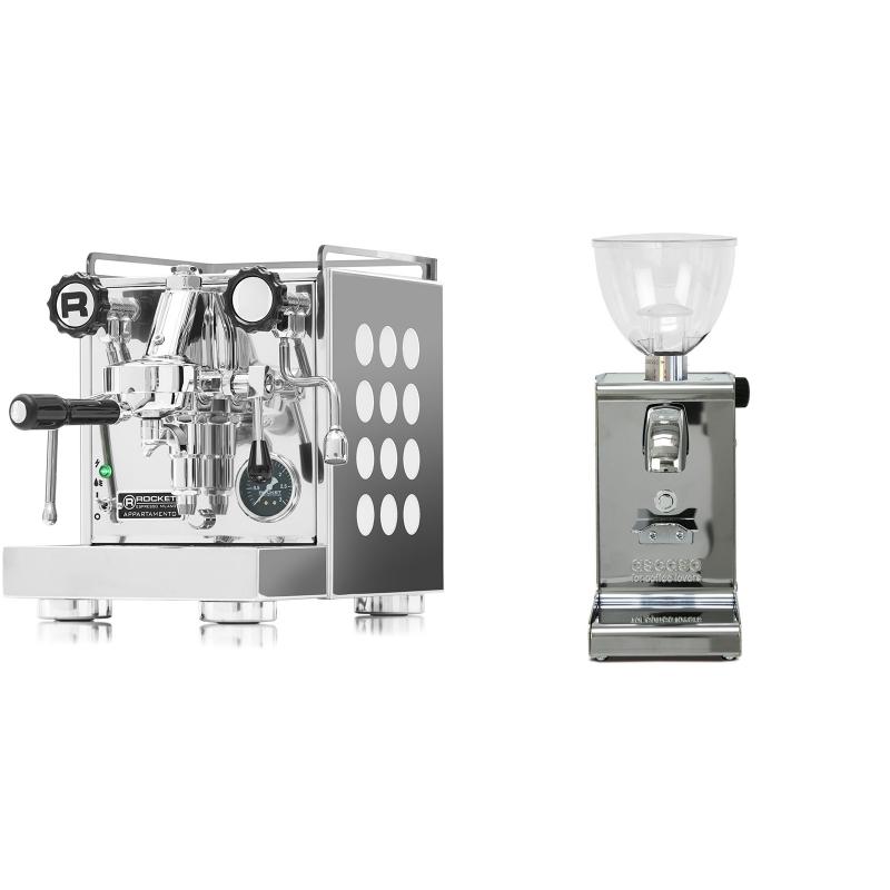 Rocket Espresso Appartamento, white + Ascaso i-steel, lesk
