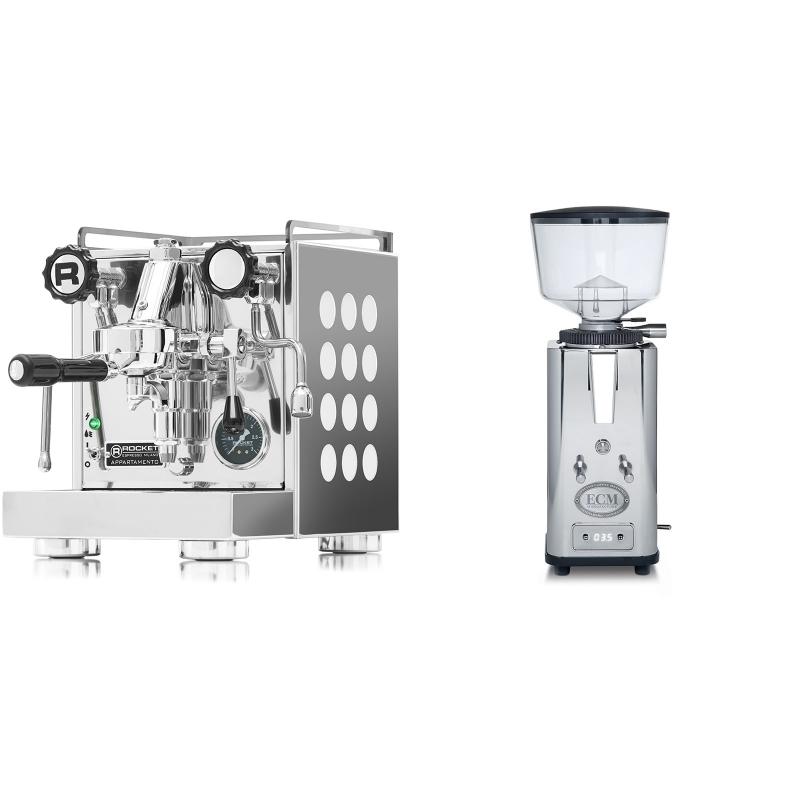Rocket Espresso Appartamento, white + ECM S-Automatik 64
