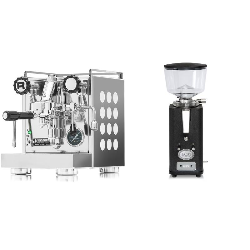 Rocket Espresso Appartamento, white + ECM S-Automatik 64, anthracite