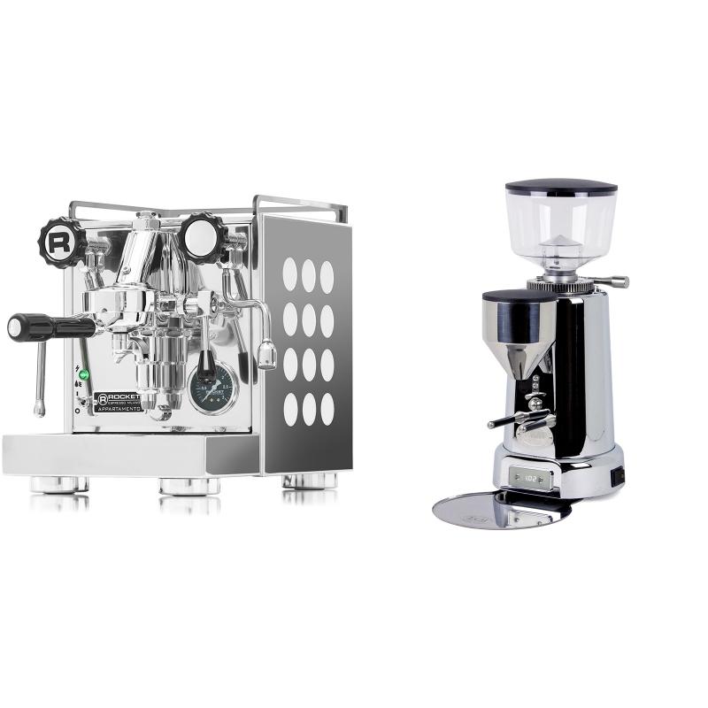 Rocket Espresso Appartamento, white + ECM V-Titan 64
