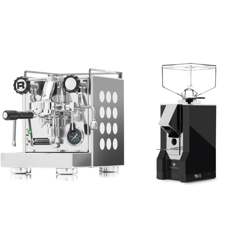 Rocket Espresso Appartamento, white + Eureka Mignon Classico, CR black