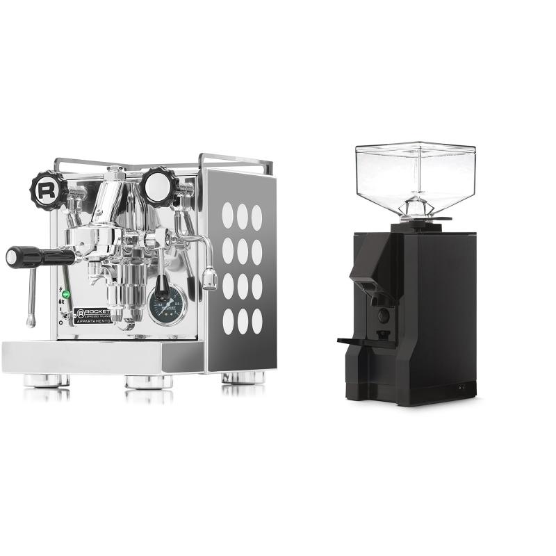 Rocket Espresso Appartamento, white + Eureka Mignon Manuale, BL black