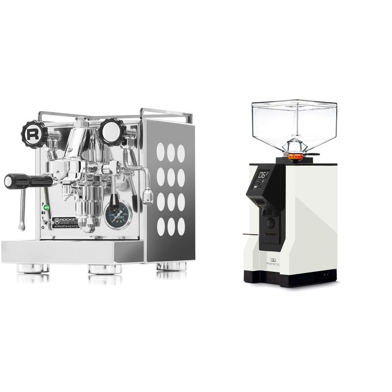 Rocket Espresso Appartamento, white + Eureka Mignon Perfetto, BL white