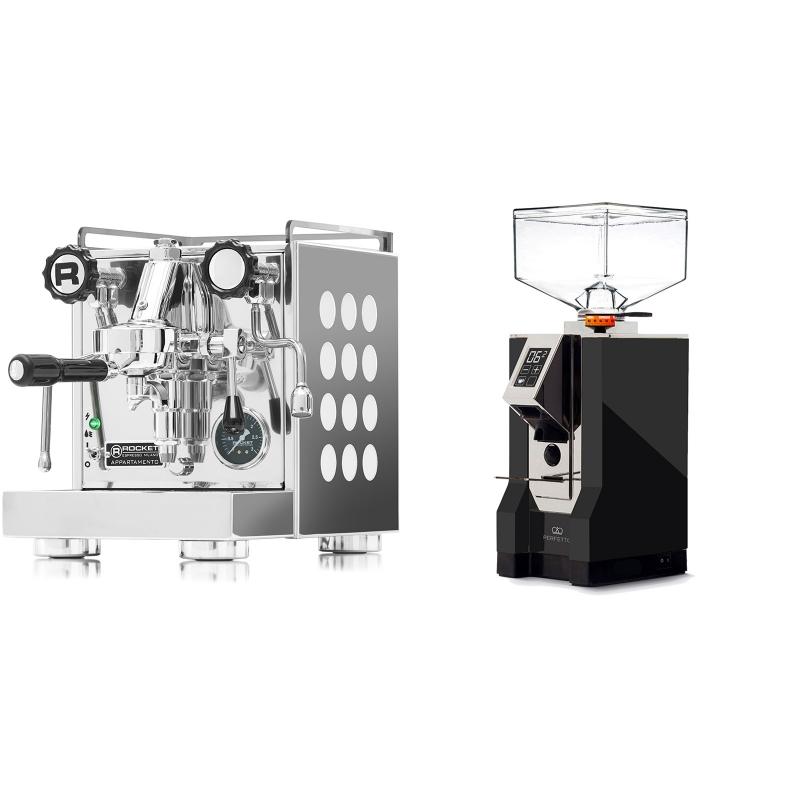 Rocket Espresso Appartamento, white + Eureka Mignon Perfetto, CR black