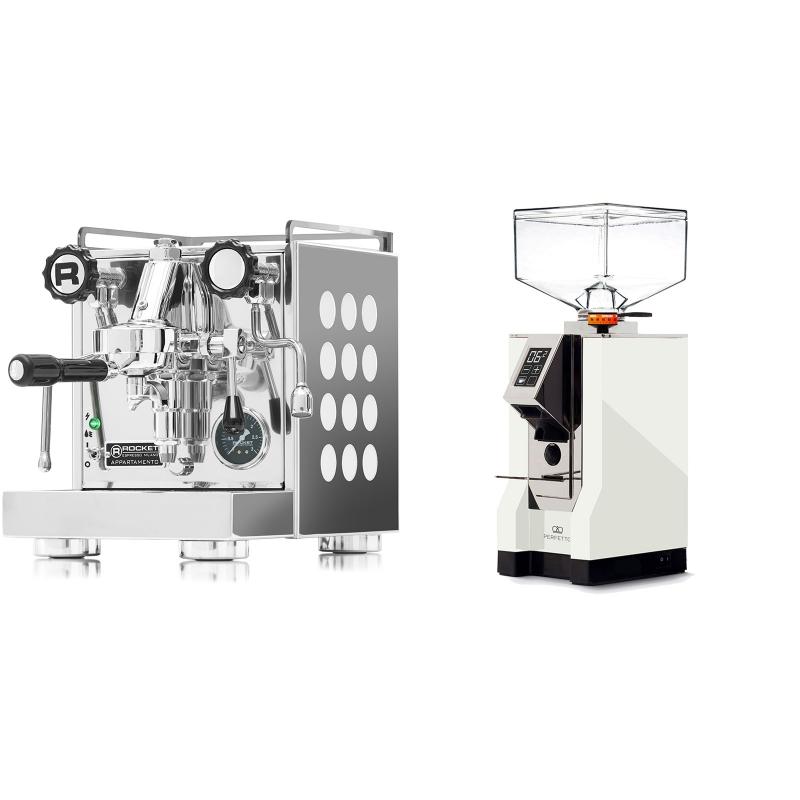 Rocket Espresso Appartamento, white + Eureka Mignon Perfetto, CR white
