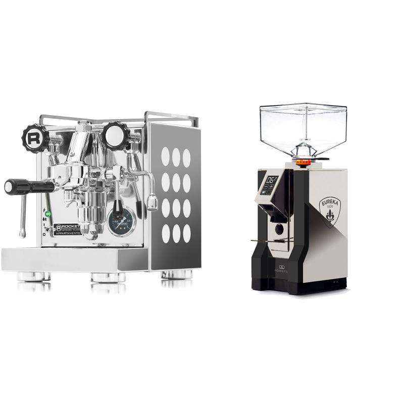 Rocket Espresso Appartamento, white + Eureka Mignon Perfetto, NX black