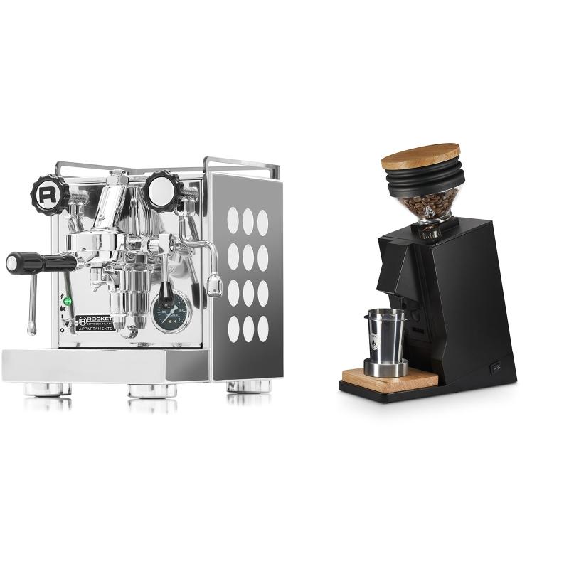 Rocket Espresso Appartamento, white + Eureka Mignon Single Dose, Black & Oak