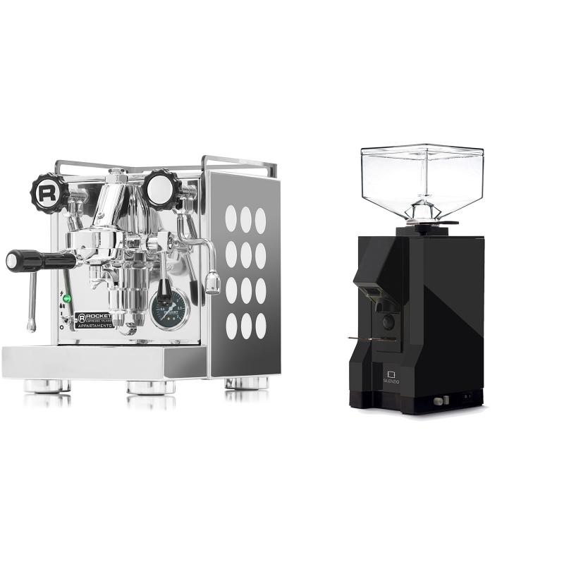 Rocket Espresso Appartamento, white + Eureka Mignon Silenzio, BL black