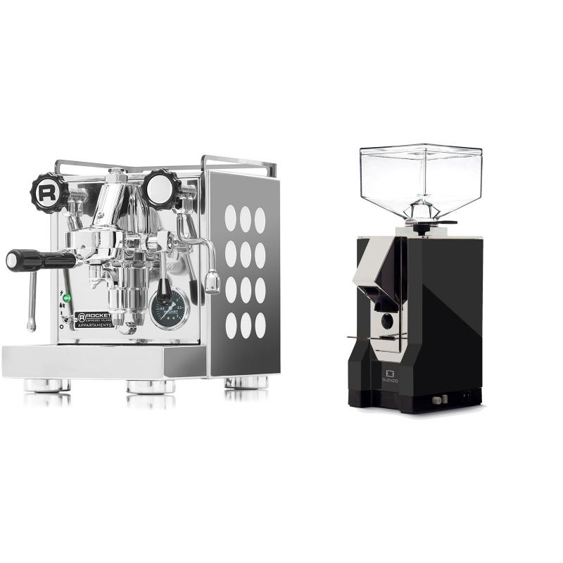 Rocket Espresso Appartamento, white + Eureka Mignon Silenzio, CR black