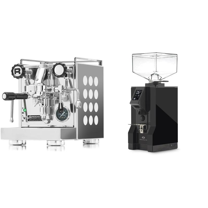 Rocket Espresso Appartamento, white + Eureka Mignon Specialita, BL black