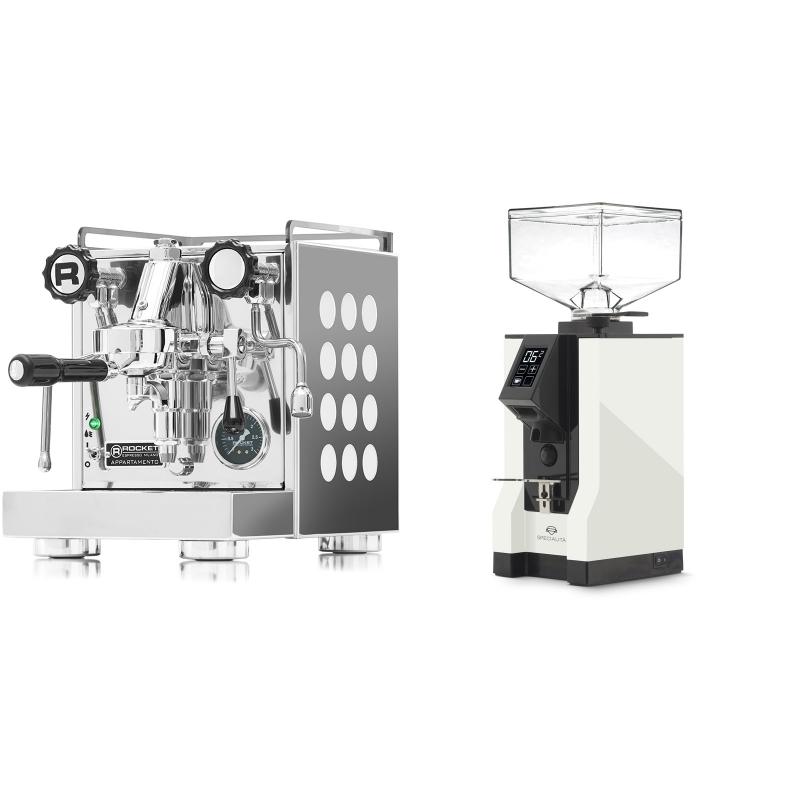Rocket Espresso Appartamento, white + Eureka Mignon Specialita, BL white